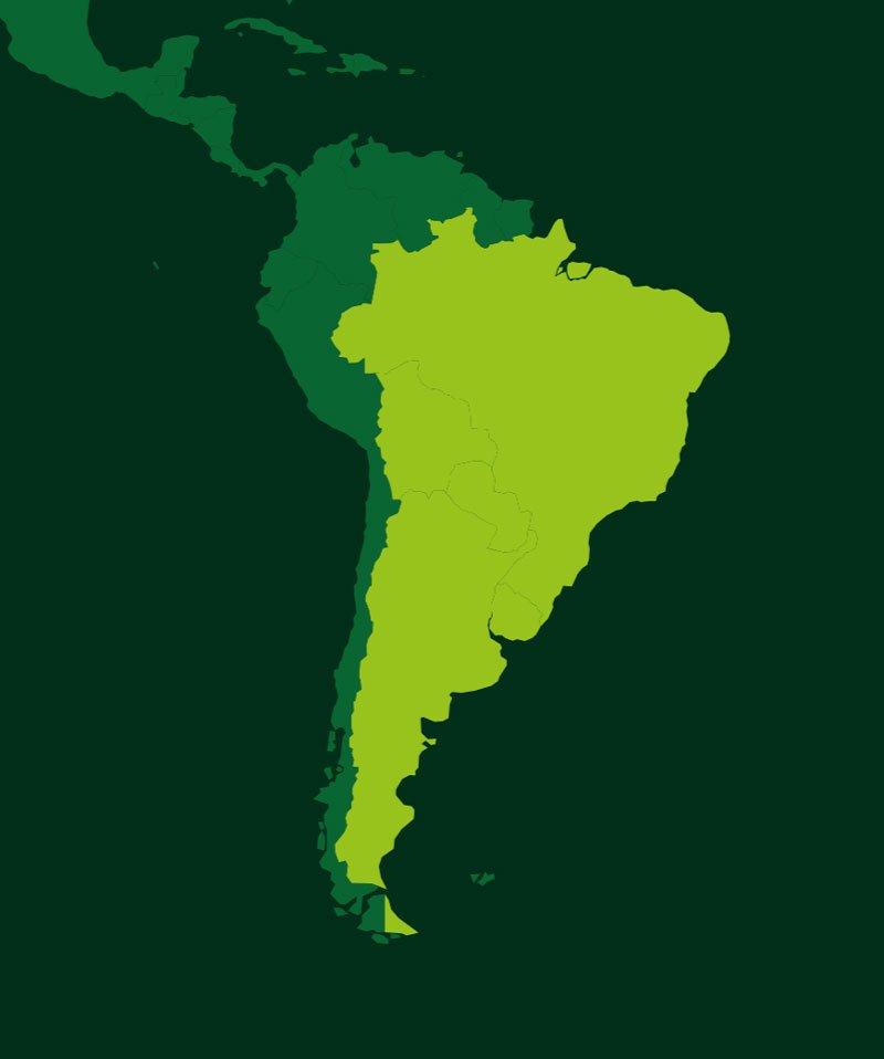South America Farming Locations